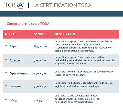 stages informatique et certification tosa a chartres